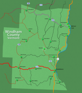Windham County History Map